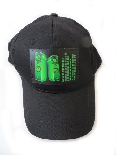 Accessory 4u inc DJ LED Flashing Sound Activated Green Equalizer E-Q Raver Light Up Disco Hat Cap