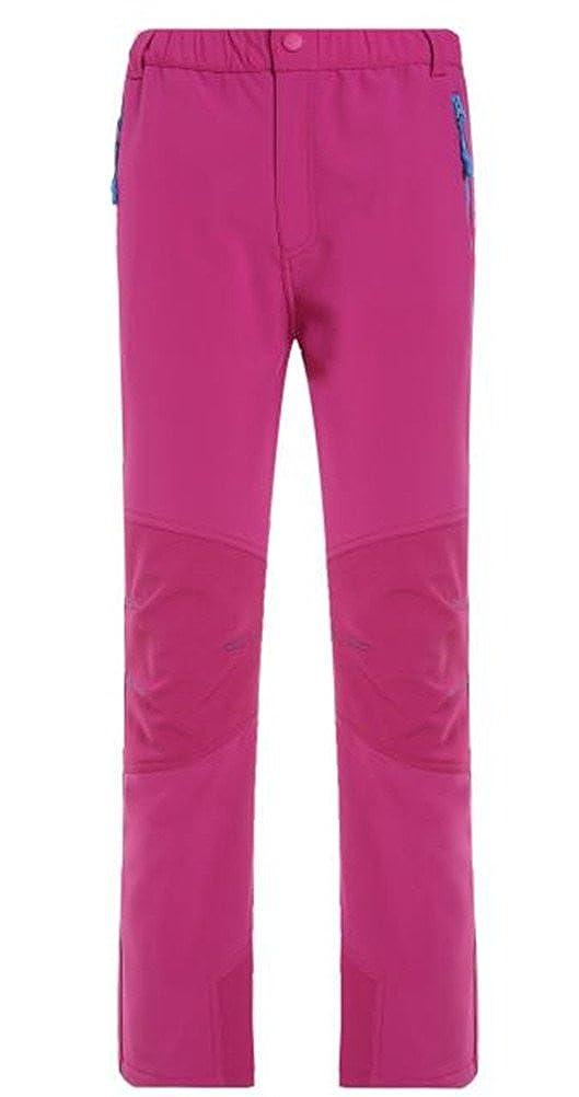 SANKE Kids Fleece Softshell Hiking Pants Outdoor Waterproof Skiing Thousers SK_MDL1508
