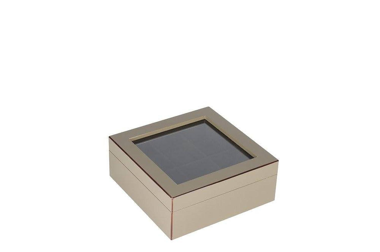Gift Company 75455 Uhrenbox - Uhrenkasten fÜr 6 Uhren - TANG - schlamm - beige 20 x 20 x 8 cm