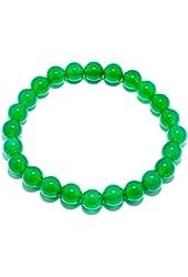 Natural Genuine Green Agate Jade Gem Bead, maxin 8MM Selastic Stretch Stone Loose Beaded Bracelet,Unisex