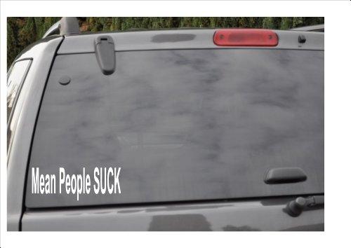 MEAN PEOPLE SUCK -window decal - Mean People Suck Bumper Sticker