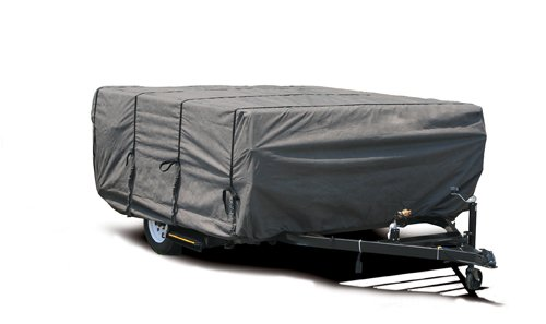 Camco 45761 8'-10' ULTRAGuard Pop-Up Camper Cover (46''H x 87''W) by Camco