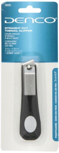 Denco Straight Cut Toenail Clipper, Stainless Steel, Assorted Colors