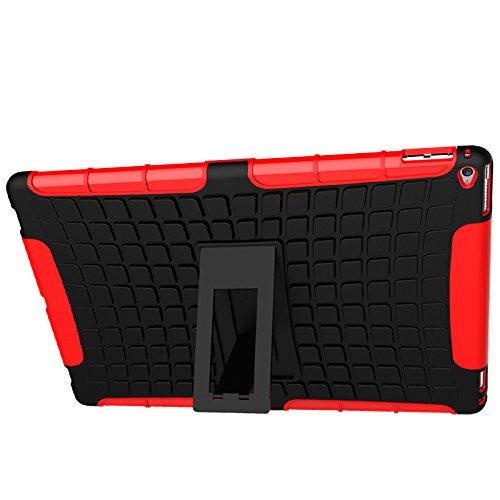 iPad Pro Funda,COOLKE Duro resistente Choque Heavy Duty Case Hybrid Outdoor Cover case Bumper protección Funda Para Apple iPad Pro (12.9 inches) - naranja Rojo