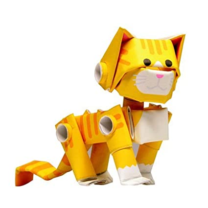 Amazon Piperoid Animals Orange Tabby Paper Craft Kit For