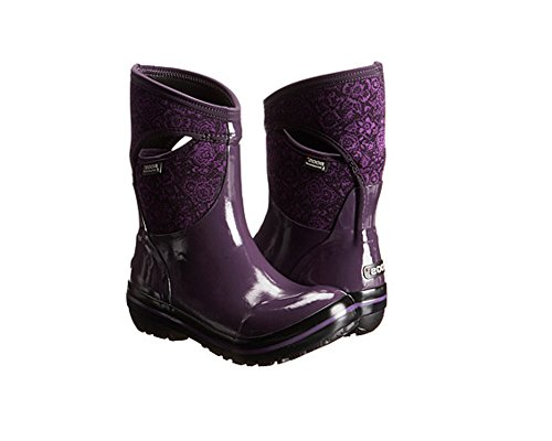 Bogs Women's Plimsoll Quilted Floral Mid Waterproof Insulate