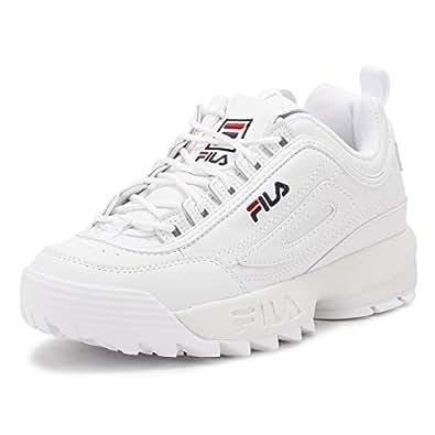 Fila Mujer Blanco Disruptor Low Zapatillas-UK 7