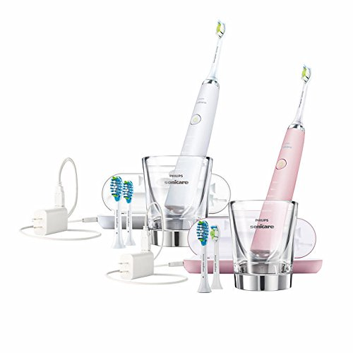 Sonicare Diamond Clean Rechargeable Electric Toothbrush set Pink/White