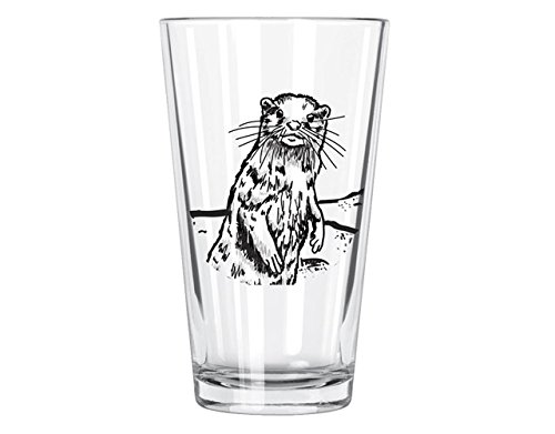 Corkology River Otter Pint Glass, Clear 450-2