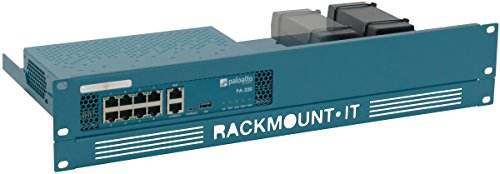 Rackmount It   Rm Pa T2   Pa Rack   Rack Mount Kit For Palo Alto Pa 220  19   1 3U  2U With The Supplied Front Plate  Ral 5009 Azure Blue