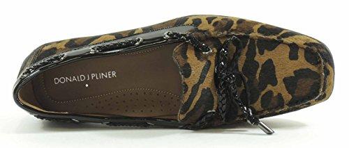 Donald J Pliner Kvinna Lacey Sluten Tå Loafers Svart Antik Patent Croc