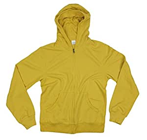 Full Zip Men's Active Hoodie (X-Large, Yellow)