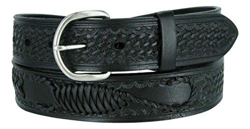 Western Scorpion X Hand Woven Genuine Leather Belt 1-1/2