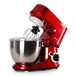Klarstein Carina Rossa   800 Watt leistungsstarke Küchenmaschine   leise und...