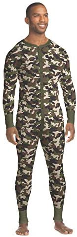 Hanes Mens Waffle Knit Thermal Union Suit