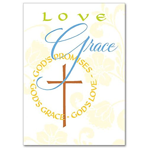 Love- Grace- God's Promises Words of Support and Encouragement Deluxe Religious Greeting Card (Pictures Free Catholic)