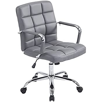 Amazoncom Poly And Bark Manchester Office Chair In Grey Home - Grey office chair