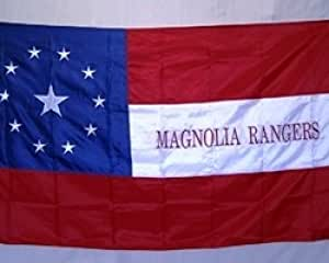 1st Texas Cavalry Magnolia Rangers 3 x 5 FT Nylon 2Ply 300D Embroidered Flag