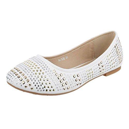 Juliet Damen+Ballerinas+-+White