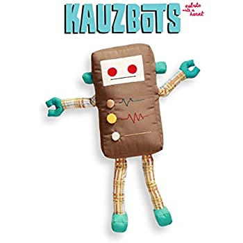 KAUZBOTS - Plush Robot Cute Stuffed Animals Handmade - Each Purchase Helps Homeless Children (KALVIN)