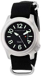 Momentum Men's 1M-SP74B7B Steelix Analog Display Japanese Quartz Black Watch