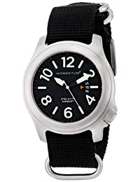 Momentum Men's 1M-SP74B7B Steelix Analog Display Japanese Quartz Black Watch