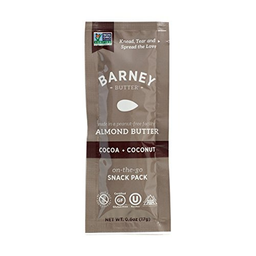 Barney Butter Almond Butter Snack Pack, Cocoa + Coconut, 0.6 Ounce (Pack of 24)