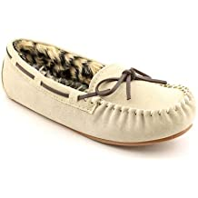 Slippers International Women's Peggy Sue Moccasin 8 2A(N) US Sand-Suede
