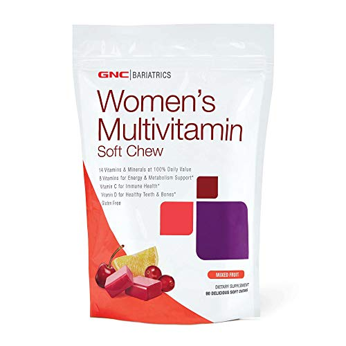 (GNC Bariatrics Womens Multivitamin, Mixed Berry, 90 Soft Chews)