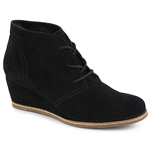B-JORNDAL-Bjorndal-Womens-Rachel-Wedge-Heel-Chukka-Bootie-Shoes