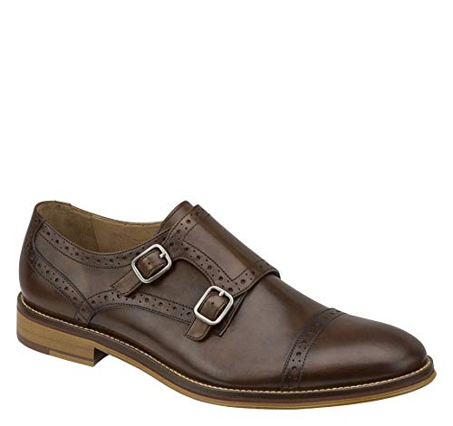 Johnston & Murphy Men's Conard Double Monk Strap Oxford,Mahogany,10 M US