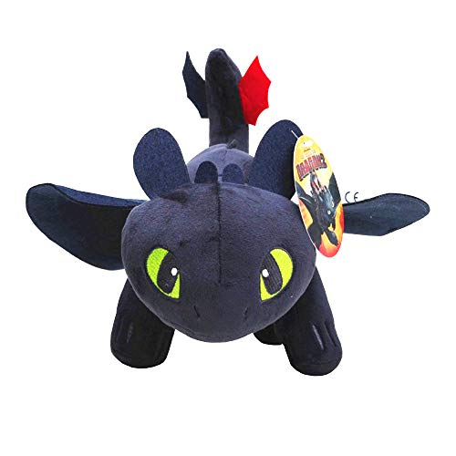 How to Train Your Dragon Night Fury Toothless Night Fury Stuffed Animal Plush Doll Toy Dragons Defenders of Berk 10inch ()