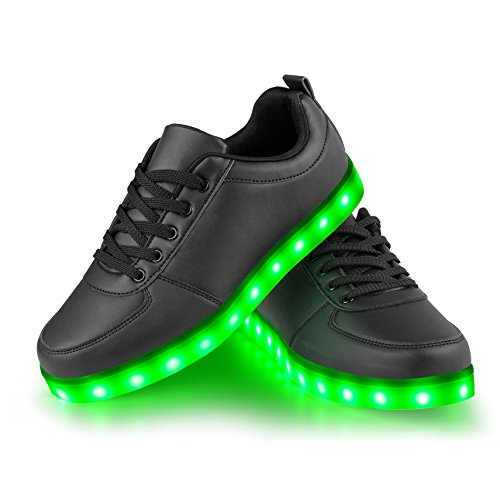 Black Christmas Charging LEADFAS Men Colors Thanksgiving Women Sneaker 7 Outdoor Boys Trainers Day Gilrs Light Shoes Unisex up Sneaker LED Halloween USB Athletic Party LED Gift Sport For pq8Rf6wn