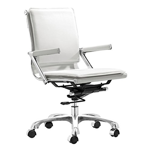 Zuo Lider Plus Office Chair, White