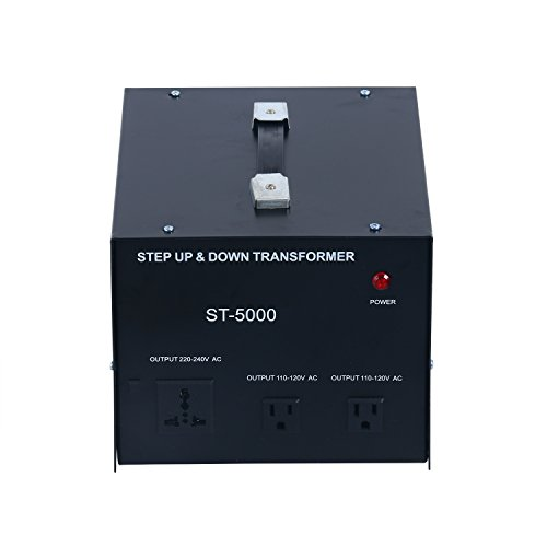 YaeCCC 5000 Watt Voltage Converter Transformer - 110V/220V - Circuit Breaker Protection by YaeCCC (Image #2)