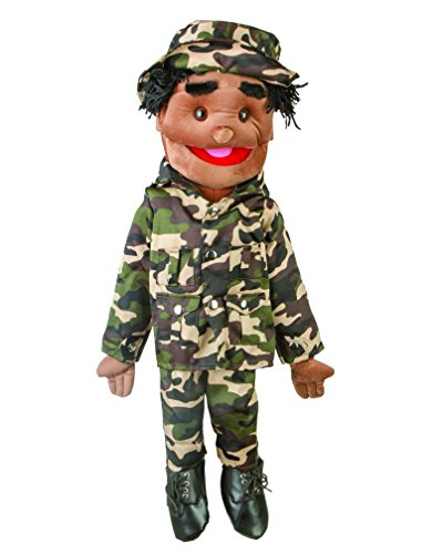 "Sunny Toys 28"" Ethnic Boy In Army Uniform Full Body Puppet"
