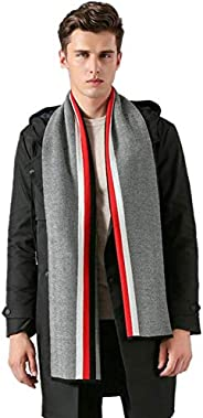 PG Mens Winter Thickened and long warm wool scarf Unisex Cashmere knitting Warm and soft Feel Long Scarf