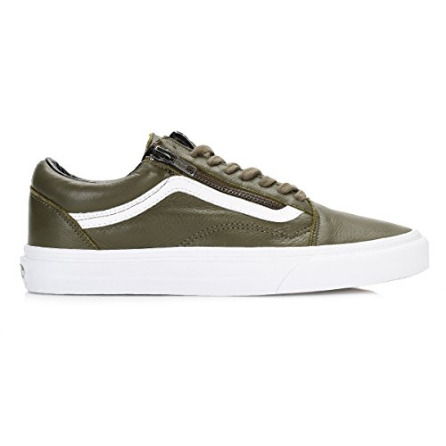 Vans Hombres Ivy Verde/True Blanco Old Skool Cremallera Zapatillas Ivy Verde/True Blanco