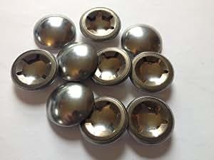 Pack de 10, arandelas StarLock cúpula 8mm nevadas empujan en retenes para eje redondo 8mm