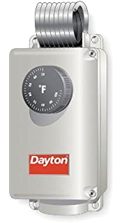 Dayton 6EDY5 Line Voltage Thermostat, 120-240V, SPDT