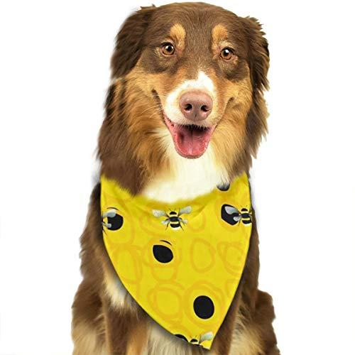 FortniteCOM Dog Bandana Bumble Bees Triangle Bibs Scarf Printing Kerchief Set Accessories Dogs Cats Pets