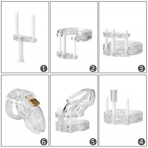 LKNFEZ1-JN Transparent Breathable Plastic Material Body Play Control Equipment Male Care Tool
