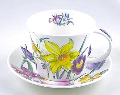 Roy Kirkham Spring Flower Chintz English Chintz Breakfast Set - Tea Cup and Saucer Set Fine Bone China