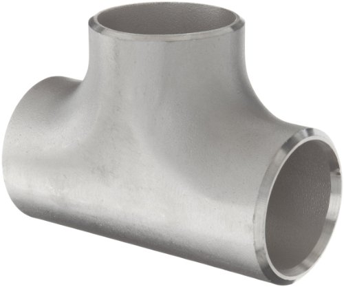 Stainless Steel 316/316L Butt-Weld Pipe Fitting, Tee, Schedule 40, 1
