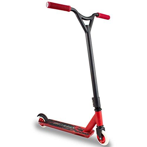 キックスクーター ファンシー2ラウンドエクストリームスタントアダルトペダルスクーターアダルトスクーター 持ち運びが簡単 (色 : 赤) B07Q8GQ6ML  赤