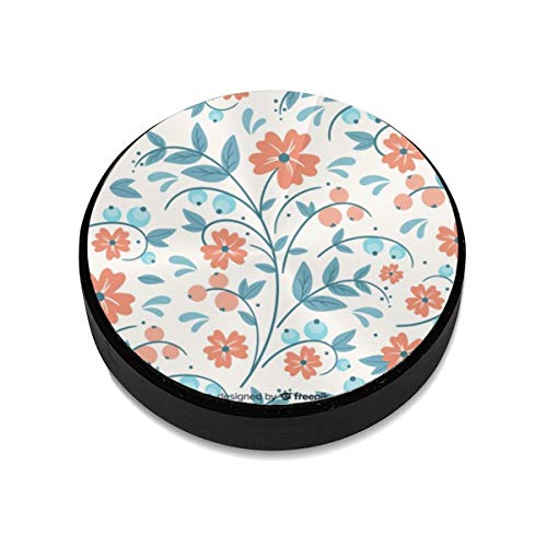 Magnetic Mount,Hand Drawn Embroidery Floral Magnetic Car Mount Phone Holder Cell Phone Holder Mount Smartphone Car Mount Holder