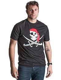Jolly Roger Pirate Flag   Skull & Crossbones Buccaneer Costume Unisex T-shirt