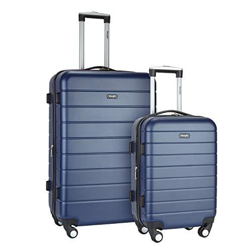 - Wrangler 2 Piece USB Port Cup Holder Luggage Set