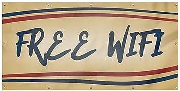Nostalgia Stripes Heavy-Duty Outdoor Vinyl Banner CGSignLab Free WiFi 8x4
