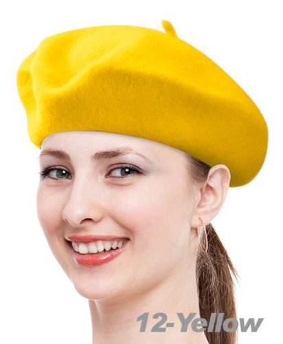 True Wool Beret-Yellow